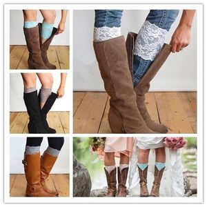❤️HP!❤️ 3 pairs of lace boot cuffs