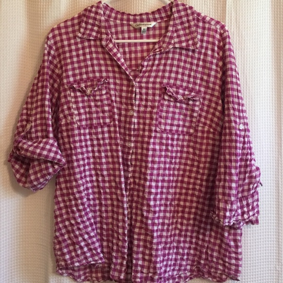 Sonoma Sale Purple Plaid Button Up Shirt Xl From Lisa 39 S
