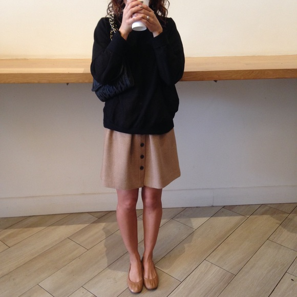 2a965f49 J. Crew Dresses & Skirts - J. Crew flair skirt in double serge wool