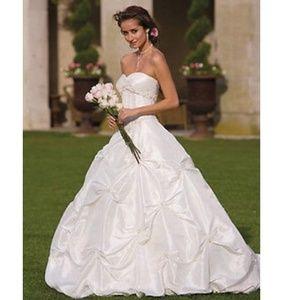 SWEETHEART CORSET A-LINE WEDDING DRESS GOWN