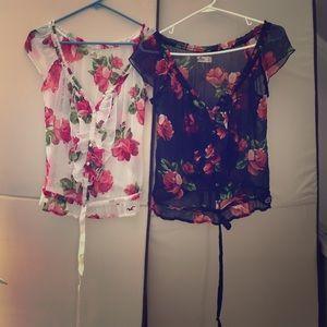 Hollister floral blouses!