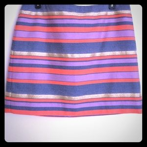 J. Crew - Shiny-Stripe Mini Skirt