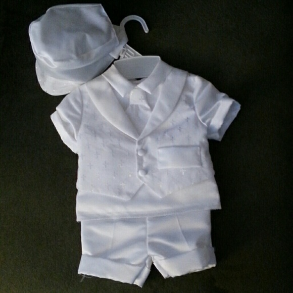 7b11e1972 Macy's Other | Boys Christening Shorts Outfit And Shawl | Poshmark