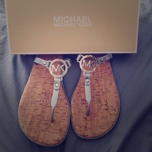 Brand new MICHAEL KORS charm jelly sandals