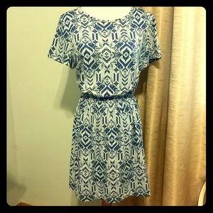 Blue Aztec Dress