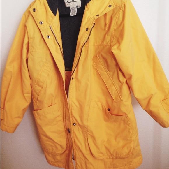 0226ee7fe680 Eddie Bauer Outerwear - Eddie Bauer yellow rain jacket