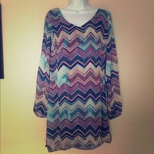 NWT Chevron Print Dress
