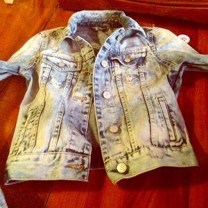 Jackets & Blazers - brand new bleach denim Jean jacket