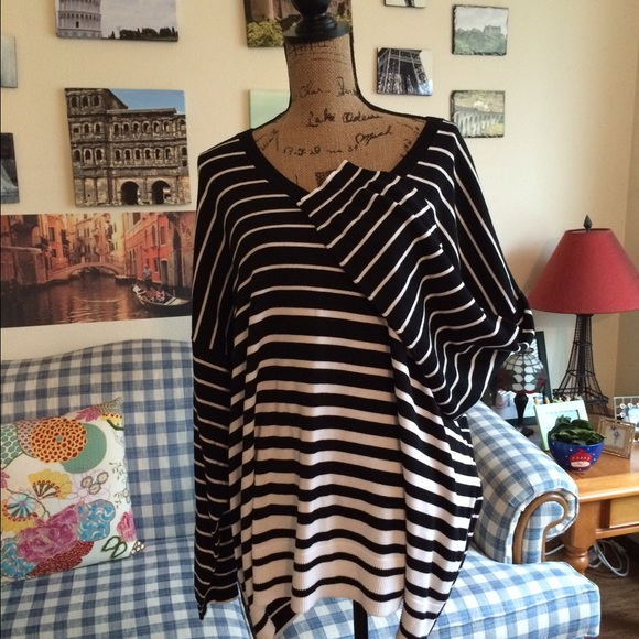 Lane Bryant Sweaters - Black and white striped sweater!