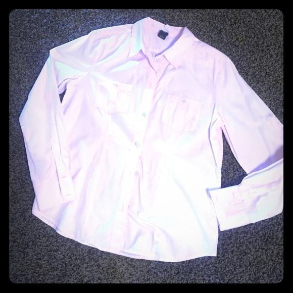 88 Off Gap Tops Gap Light Pink Cotton Button Down Shirt