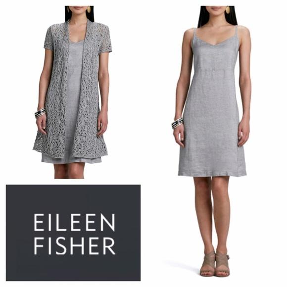 6a74e10ca9 Eileen Fisher Dresses   Skirts - Twinkle Linen Slip Dress