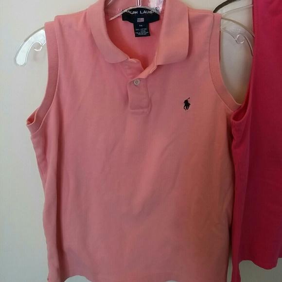 Ralph Lauren Ralph Lauren Polo Pink And Salmon Tees From