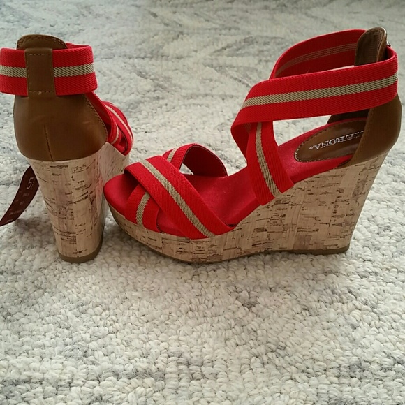 33 merona shoes nautical wedge from s