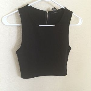 Brand new black crop top from forever 21