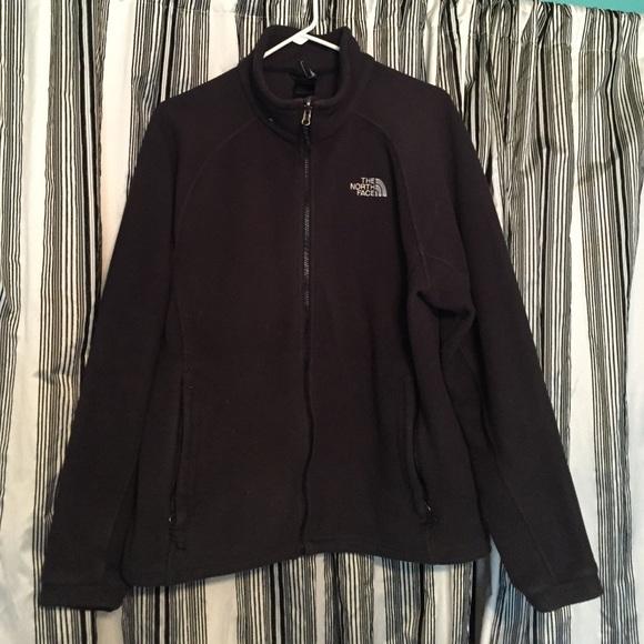 e8c4e884b North face zip up black fleece plain