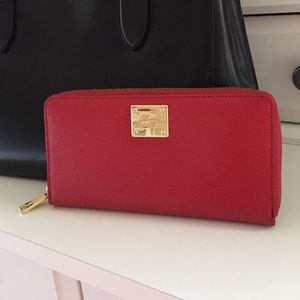 Ralph Lauren Red Leather Wallet