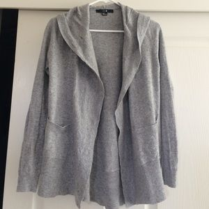 Hooded Gray Cardigan