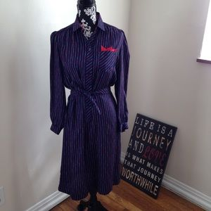Vintage 70's shirt Dress