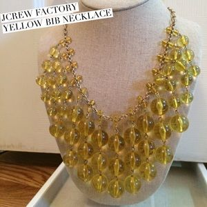 J.CREW Factory Yellow Bib Necklace