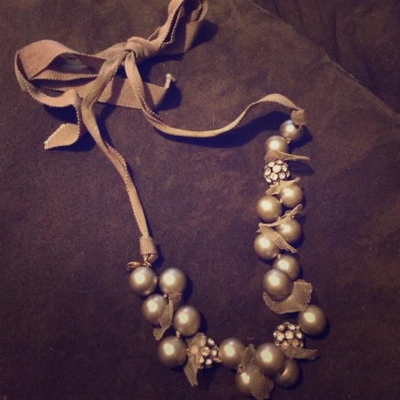 78 off j crew jewelry j crew ribbon tie rhinestone for Ribbon tie necklace jewelry