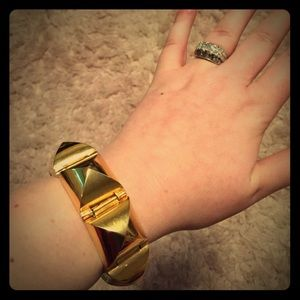 CC SKYE Gold Pyramid 18k coated bracelet cuff