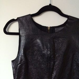 PJK Collection Tops - Leather Zipper-Back Shell Top