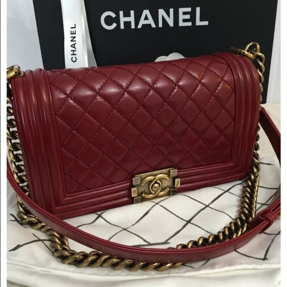 137bd6fa691063 CHANEL Bags | Sold Out Calfskin Le Boy Medium Flap Bag | Poshmark