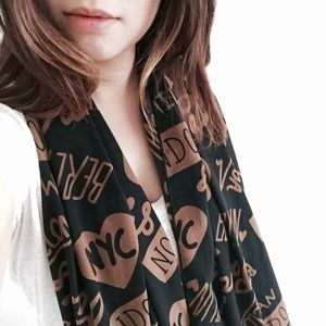 Boutique Accessories - World's City Scarf