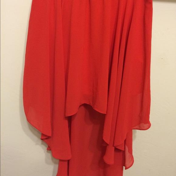 68 heartsoul dresses skirts blood orange hi low