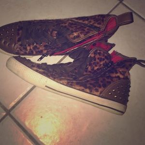 Aldo animal print sneakers
