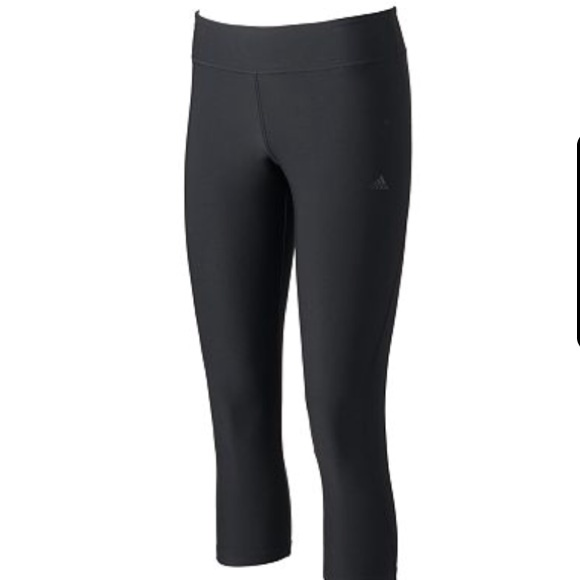 87% off Adidas Pants - adidas Capri Workout Black leggings / pants ...