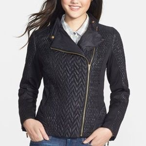 Laundry by Shelly segal Moto mixed quilted jacket