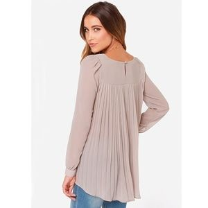 New Gorgeous Beige Pleated Loose Blouse Top💋