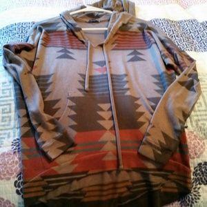 Boutique aztec hoodie