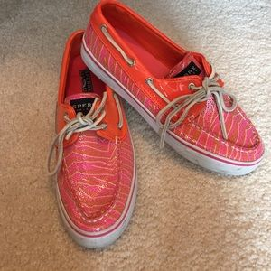 Sperry Top-Sider Shoes - Pink & Orange Sperry Top-Sider