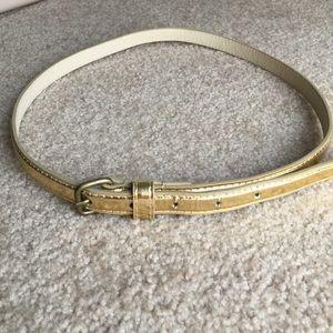 Accessories - Long thin belt - gold