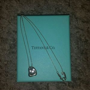 Authentic Tiffany & Co Heart Necklace and Ring