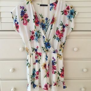 Honey Punch Other - Floral Romper