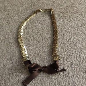 Gold/brown sequence belt