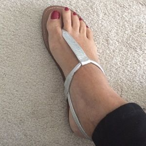 SILVER MATTE SANDALS like New!!!
