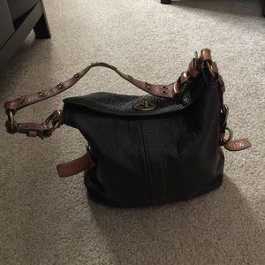 Coach leather black handbag