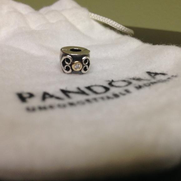 pandora double clip charm