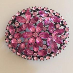 Jewelry - Pink Flower Stone Brooch