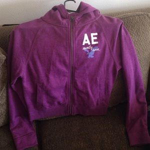 NWOT American eagle purple jacket