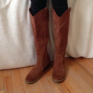  SALE!!  Brown Leather/Suede boots