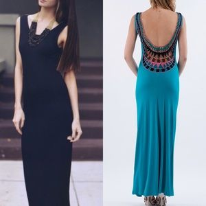 The TARA low back maxi dress - TURQUOISE