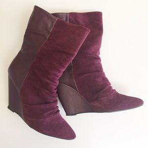 SHOEMINT Candy Wine Booties
