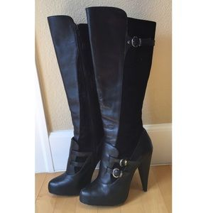 DOLCE VITA Suede & Leather Knee-High Boots