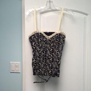 Nanette Lepore Tops - Nanette Lepore size 6 bustier black/white belt