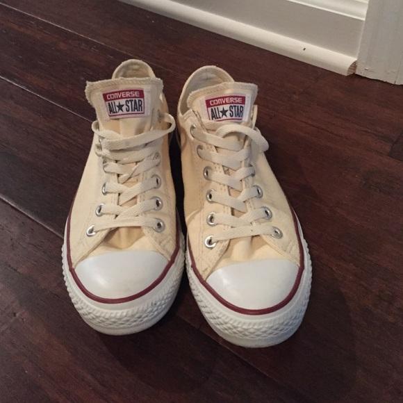 24ca0e8308e75b Converse Shoes - Cream colored converse sneakers woman s size 8.5